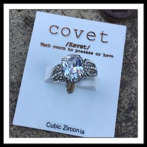 Covet Silver ring with Cubic Zirconia, Size 6
